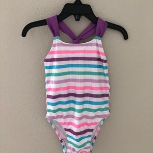 NWT Baby girl stripped one piece swimsuit